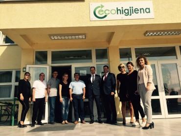Vizita e Ambasadorit Austriak Mr.sc.Gernot Pfandler në kompaninë Ecohigjiena
